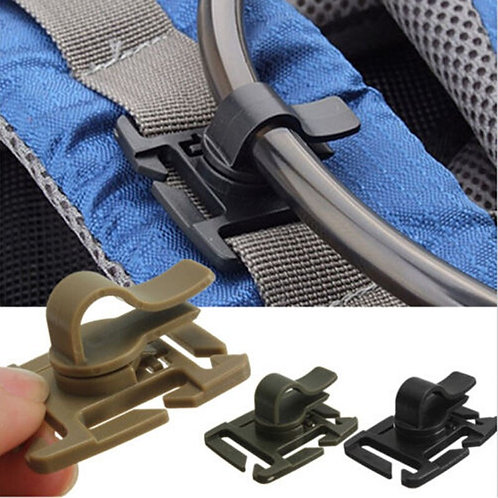 Drinking Tube Clip Rotatable Molle Webbing Clip Molle -  2 PCS