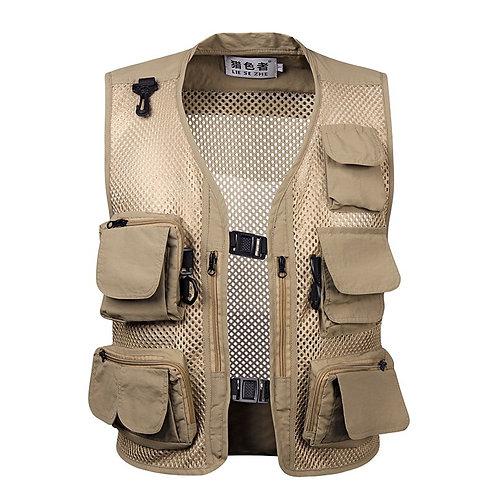 Ultralight Fishing Vest, Quick-Drying Mesh Multi Pocket Waistcoat