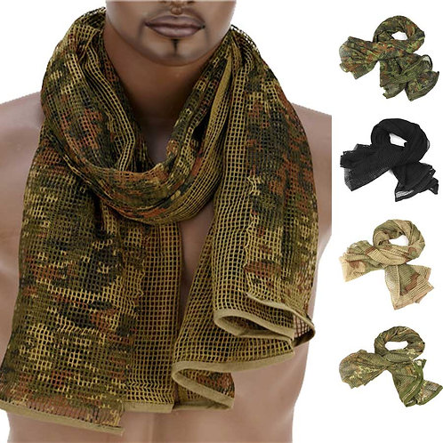 190*90cm Scarf Cotton Military Camouflage Tactical Mesh Scarf