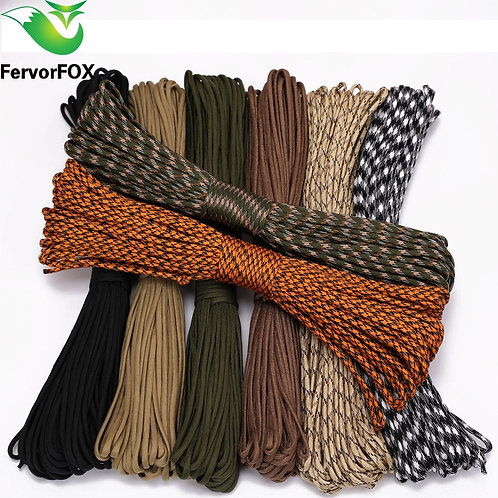 FervorFOX 90 Color Paracord 550 Parachute Cord Lanyard Rope 100ft
