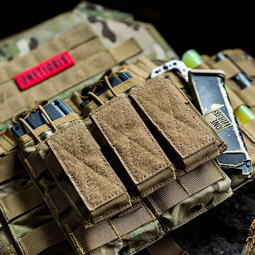 OneTigris Tactical Triple Pistol Magazine Pouch 9mm 40 S&W 45 ACP