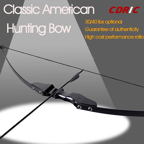 30/40ibs High Quality Black Recurve Bow