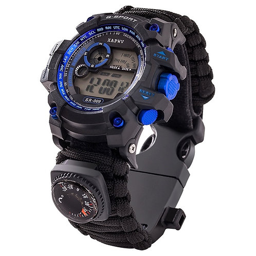 Outdoor Survive Watch Emergency With Night Vision 50M Waterproof