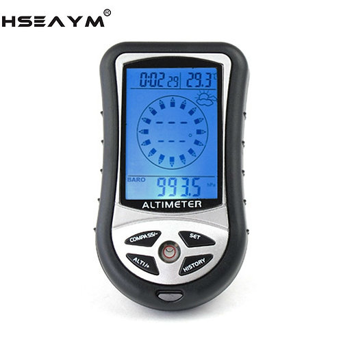 HSEAYM 8 in 1  Electronic Altimeter Compass Barometer Thermometer