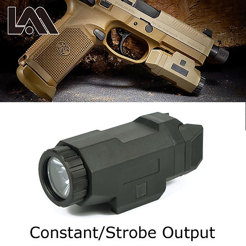 Tactical Compact APL Flashlight for 20mm Picatinny Rail Mount