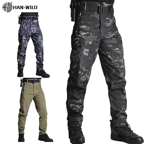 HAN WILD Men Sharkskin Tactical Pants Cargo Combat SWAT Army