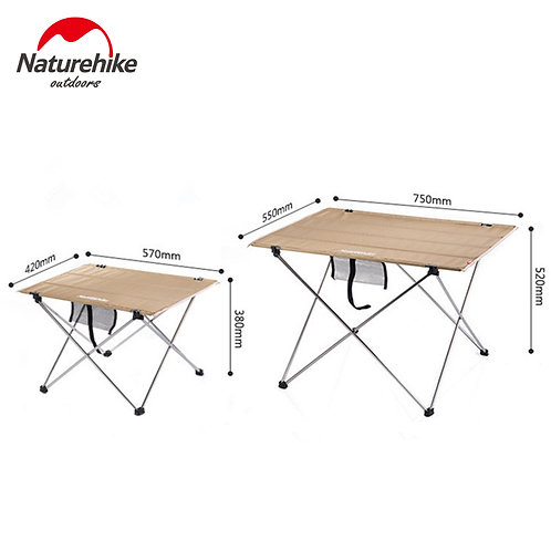 Naturehike Portable Aluminum Foldable Camping Table