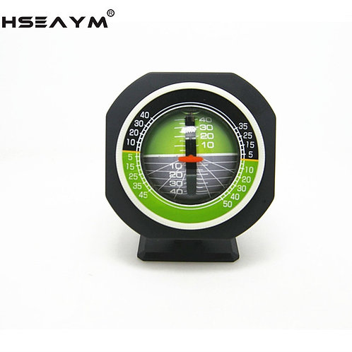 HSEAYM  High-Precision Vehicle Car Slope Meter Level Car Compass Built in LED