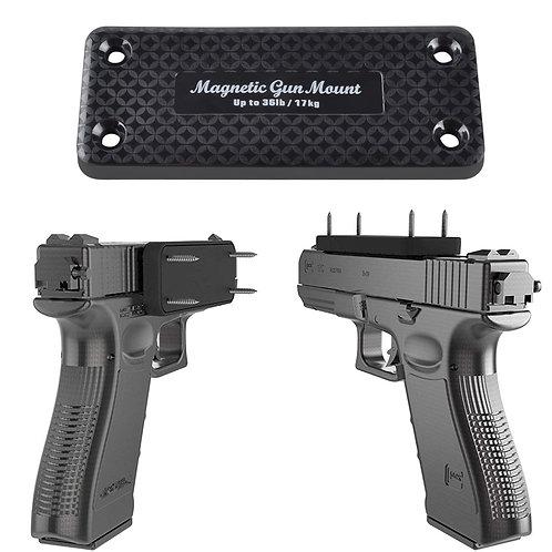 1X Pistol  Concealed Magnetic Gun Holster for Under Table/ Bedside Frame  17 KG