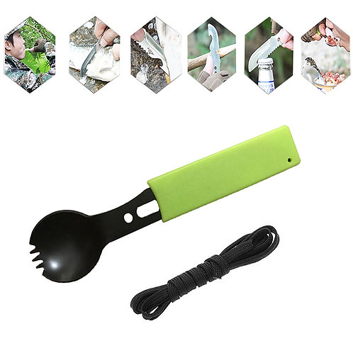 Multifunctional Safety & Survival Durable Stainless Steel Flatware