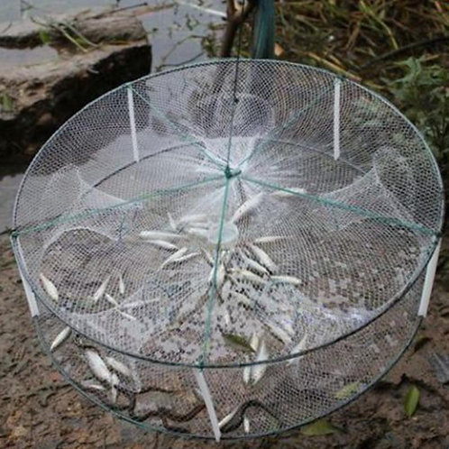 Folded Portable 4 Hole Automatic Fishing Shrimp Trap Crab Baits