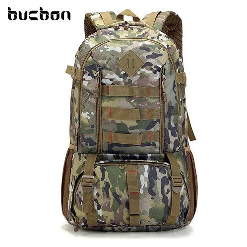 Bucbon Camo Tactical Backpack Military Army Mochila 50L Waterproof