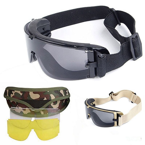 X800 Tactical Safety Goggles -3 Lens