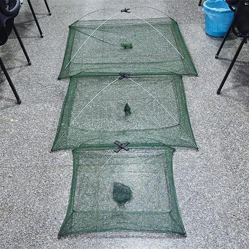 Folding Nylon Square Fishing Net Baits Trap for Catching Shrimp Crab Fish
