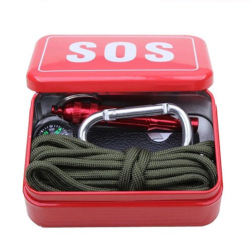 Outdoor Equipment With Paracord  Emergency  Survival Box