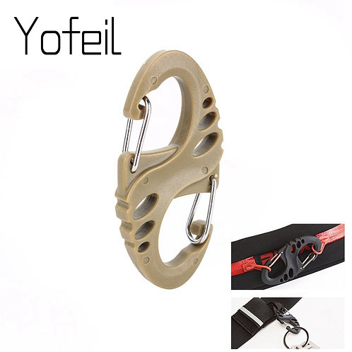 10Pcs/Lot S Type Backpack  Carabiners EDC Keychain