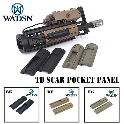 "Tactical 4.125"" ITI TD Scar Pocket Panel Remote Switch Set Fits 20mm Rails"
