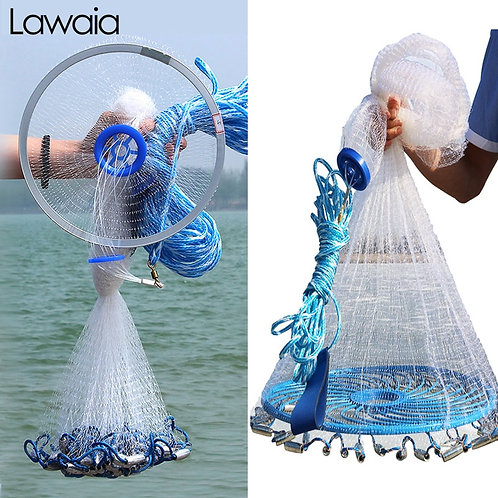 Lawaia Hand Cast Net 240cm-540cm Fishing Cast Net