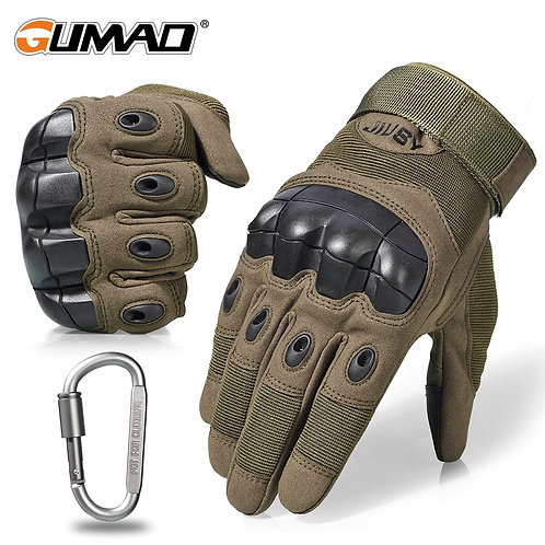 Outdoor Touch Screen Military Tactical Gloves Army Hard Knuckle, Full Finger