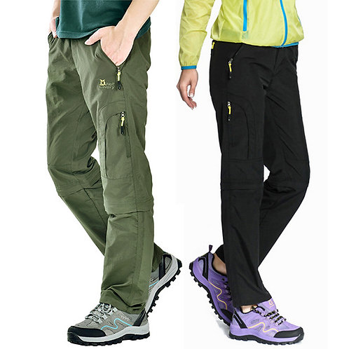 Nylon Removable Waterproof Hiking Pants Women/Men Quick Dry