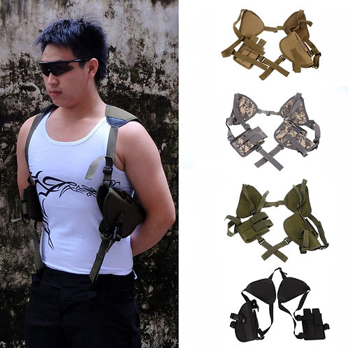 Tactical Nylon Pistol Gun Carry Pouch Concealed Shoulder Holster