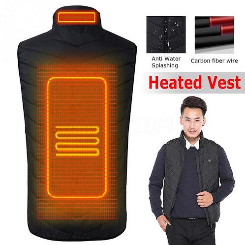 2018 Upgraded Men Outdoor USB Infrared Heating Vest Jacket