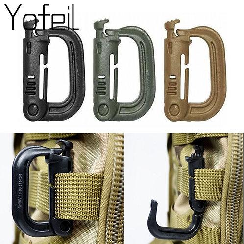 5Pcs/Lot  Grimloc Molle Carabiner D Locking Ring  Plastic Clip