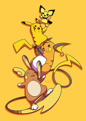 A4 Print ☆ Pikachu Stack