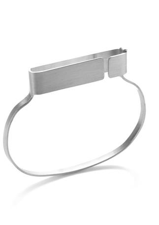 open & closeD bracelet 2 silver