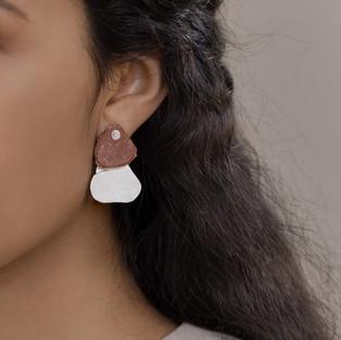 ocean plastic earrings