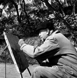 1950 - foto il pittore al lavoro