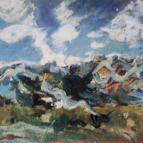 Nubi di giugno, 1896 Olio su tela, cm.43x60