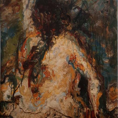 Nudo, 1895 olio su tela, cm.110,5x83,7