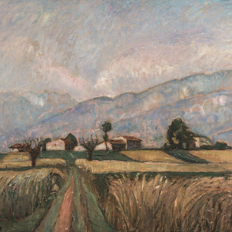 La messe (Messe matura), 1926 Olio su tela, 100x120 Firenze, Galleria d'Arte Moderna, Palazzo Pitti