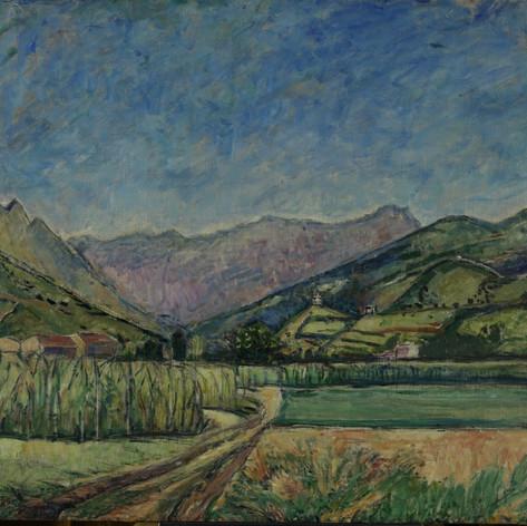 Estate, 1930  Olio su tela, cm.100x120 Verbania, Museo del Paesaggio (deposito)