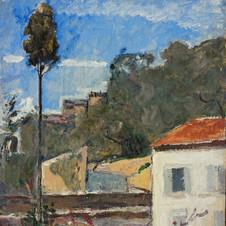 Cipresso a Zoagli, 1927 c. Olio su compensato, cm. 45x35 Verbania, Museo del Paesaggio (deposito)