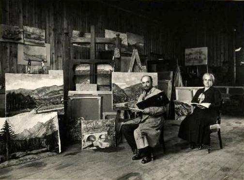 1930 - Arturo Tosi e la moglie