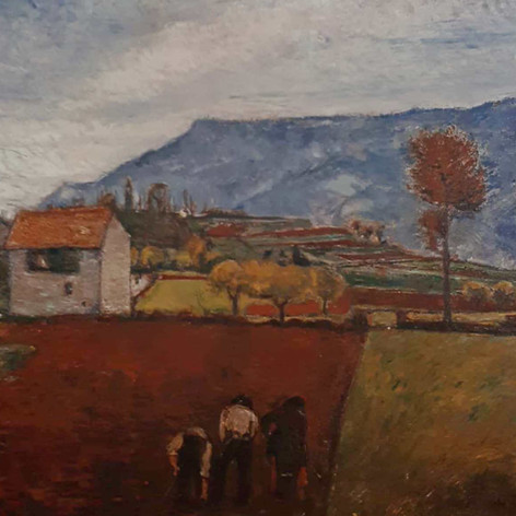 Dal mio studio, 1922 Olio su tela, cm.100x120