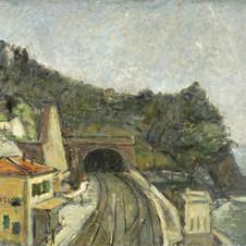 Zoagli (La stazione di Zoagli), 1924-25 Olio su tela, cm.70x89,5