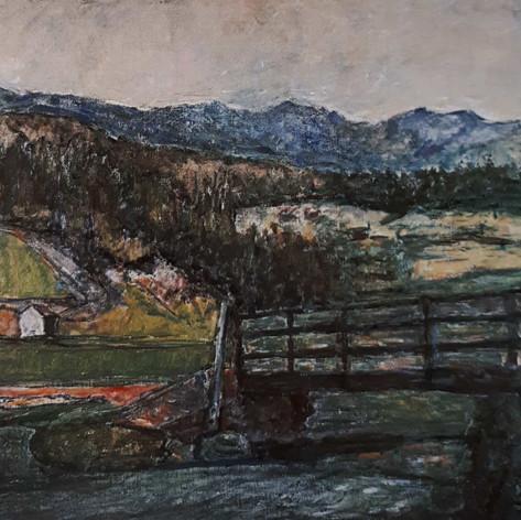 Brusson (Valle d'Aosta), 1927-28 Olio su tela, cm.70x90