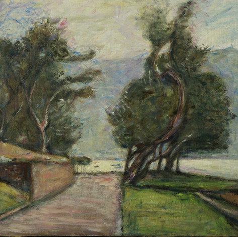 Viale degli ulivi (Ulivi a Montisola), 1940 Olio su tela, cm.70x90 Verbania, Museo del Paesaggio (deposito)