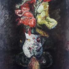 Fiori, 1930 Olio su tela, cm.60x50