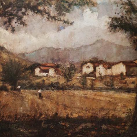 Elegia campestre, 1922 Olio su tela, cm. 70x90