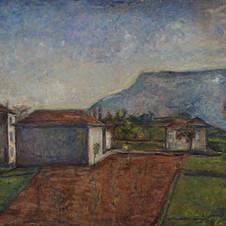Fuori dallo studio, 1930  Olio su tela, cm.100x120 Verbania, Museo del Paesaggio (deposito)