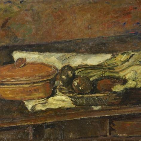 Natura morta con terrina, 1930 Olio su tavola, cm.54,5x71
