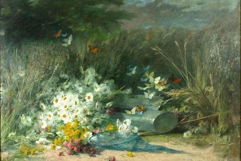 André PERRACHON (1828-1908)« La chasse aux papillons »