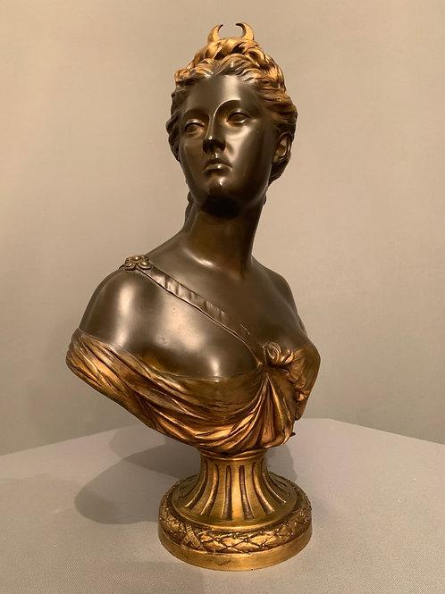 Bronze Diane Chasseresse – d'après Houdon (1741-1828).