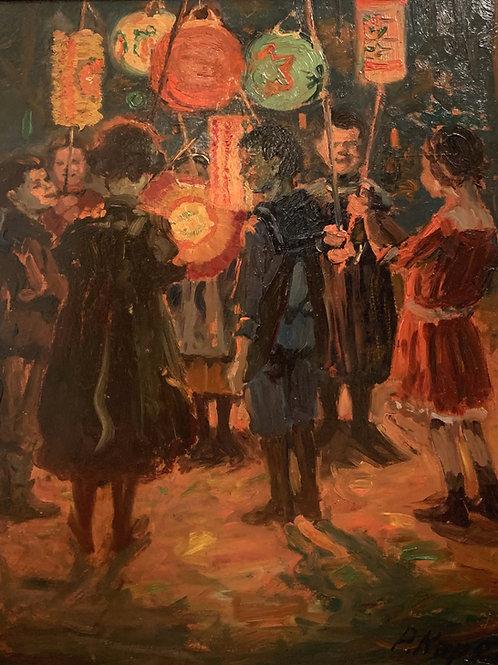 « Fête des lampions à Stuttgart » de Paul Kapell (1876-1943)