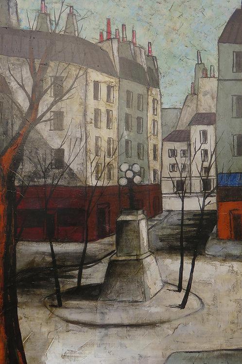 """Place Fürstenberg"" à Paris de Nubar Bédrossian ( 1926-1992 )"