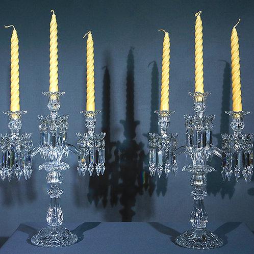 Paire de Girandoles en cristal de Baccarat